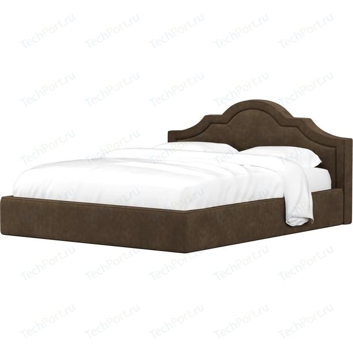 Кровать Мебелико Афина микровельвет коричневый