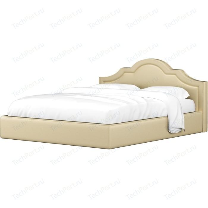 Кровать Мебелико Афина эко-кожа бежевый