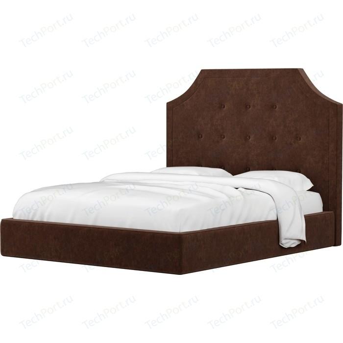 Кровать АртМебель Кантри микровельвет коричневый