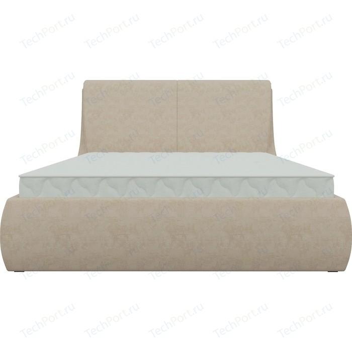 Кровать Мебелико Принцесса микровельвет бежевый