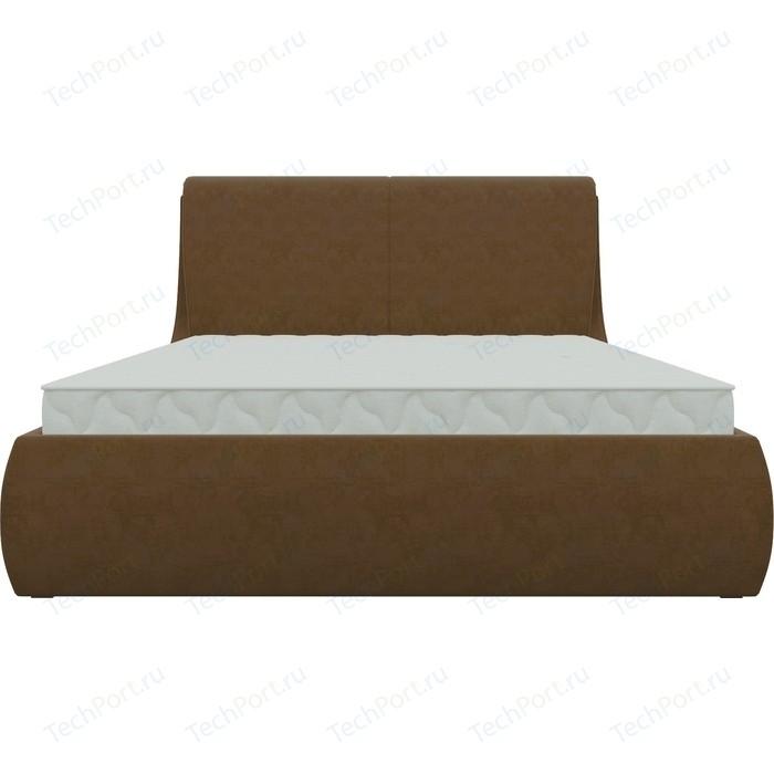 Кровать Мебелико Принцесса микровельвет коричневый