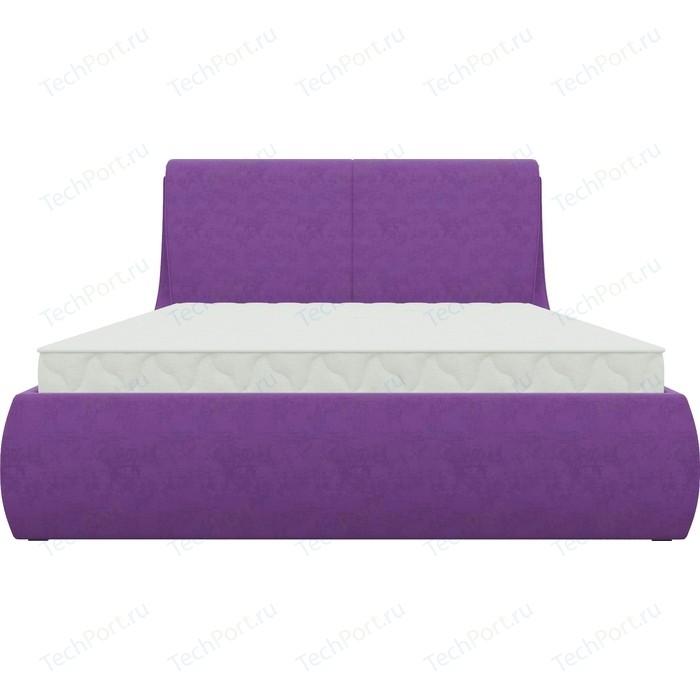 Кровать Мебелико Принцесса микровельвет фиолетовый