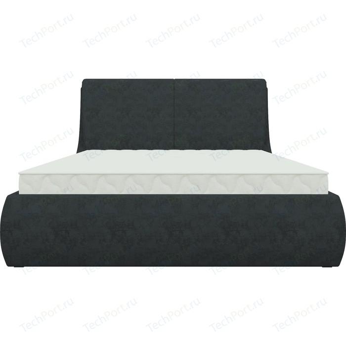 Кровать Мебелико Принцесса микровельвет черный