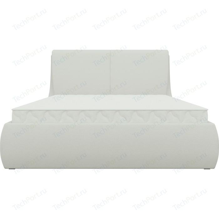 Кровать АртМебель Принцесса эко-кожа белый