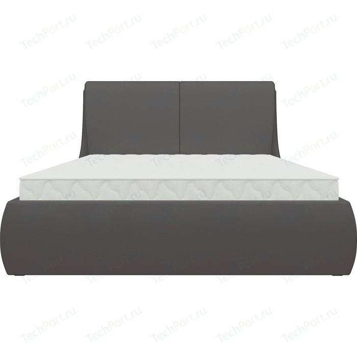 Кровать АртМебель Принцесса эко-кожа коричневый