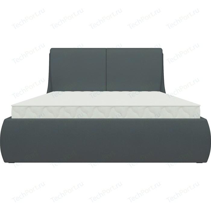 Кровать Мебелико Принцесса эко-кожа черный