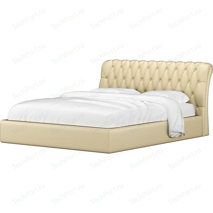 Кровать Мебелико Сицилия эко-кожа бежевый
