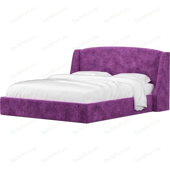 Кровать АртМебель Лотос микровельвет фиолетовый. кровать артмебель принцесса микровельвет фиолетовый