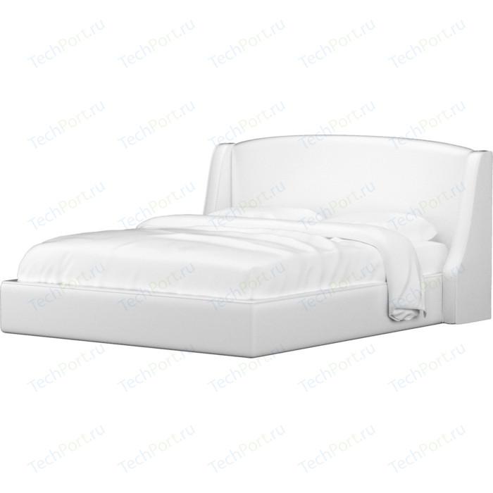 Кровать АртМебель Лотос эко-кожа белый.