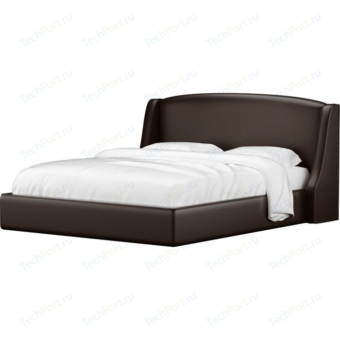 Кровать Мебелико Лотос эко-кожа коричневый.