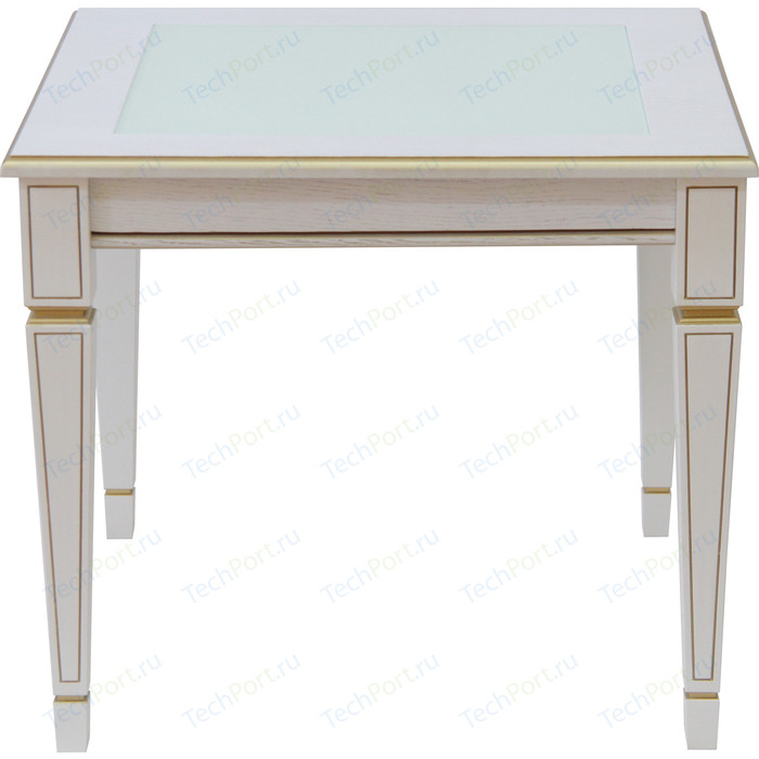 Фото - Стол журнальный Мебелик Васко В 82С белый ясень/золото стол журнальный мебелик васко в 81 белый ясень золото
