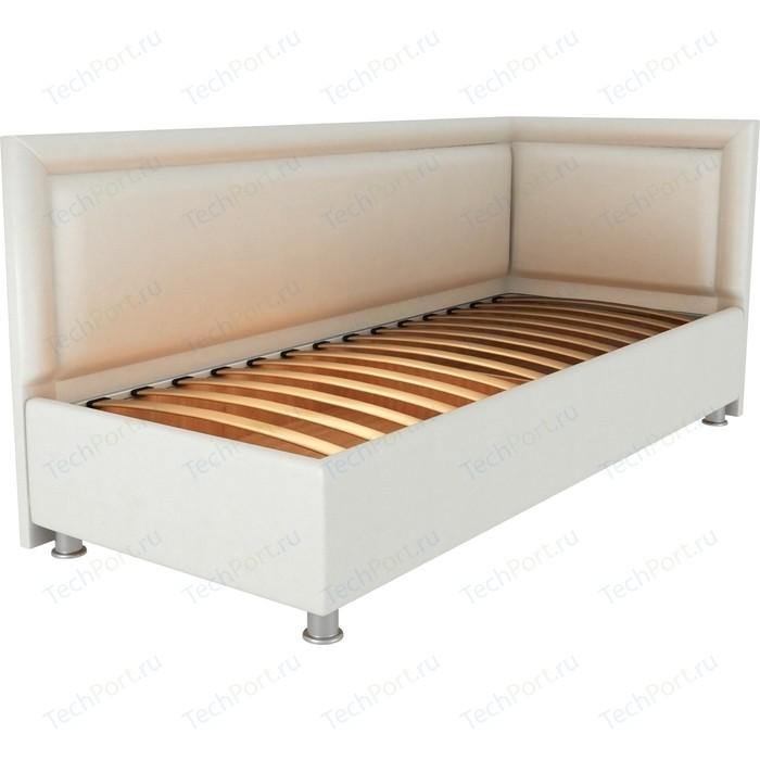 Кровать OrthoSleep Барби молочный ортопед.основание 120х200 правый угол