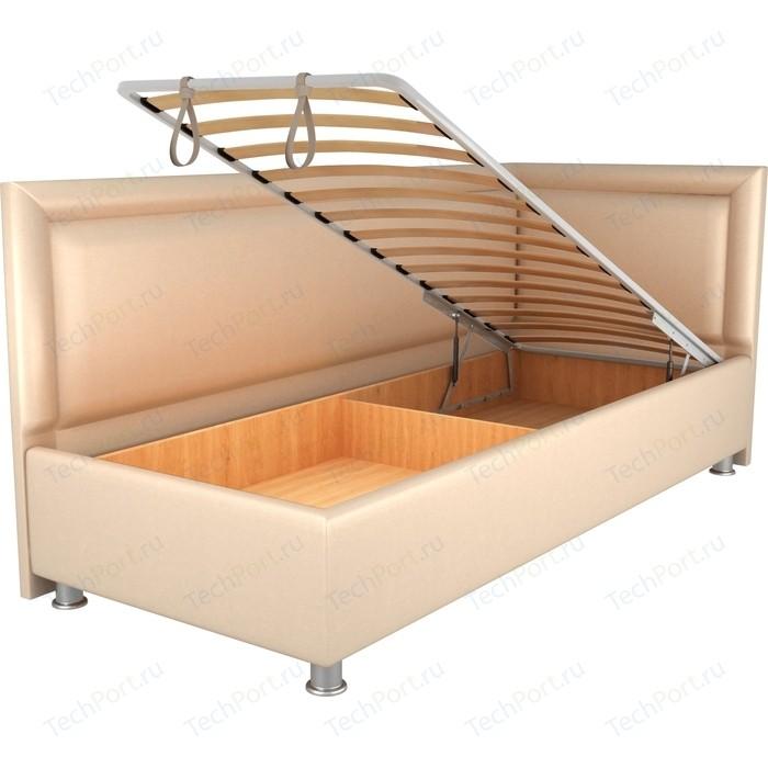 Кровать OrthoSleep Барби бисквит механизм и ящик 80х200 правый угол