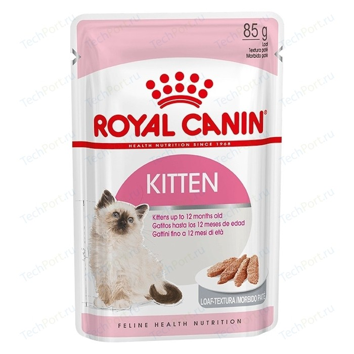Паучи Royal Canin Kitten Mousse паштет для котят 85г (783601) cat wet food royal canin kitten sterilized kitches for kittens pieces in jelly 24 85 g