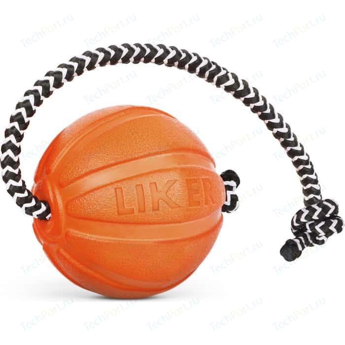 Игрушка CoLLaR LIKER Cord 9 мячик на шнуре диаметр 9см для собак крупных пород (6297)