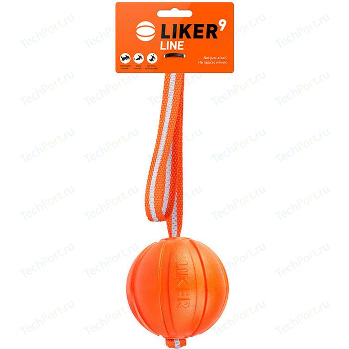 Игрушка CoLLaR LIKER Line 9 мячик на ремне диаметр 9см для собак крупных пород (6288)