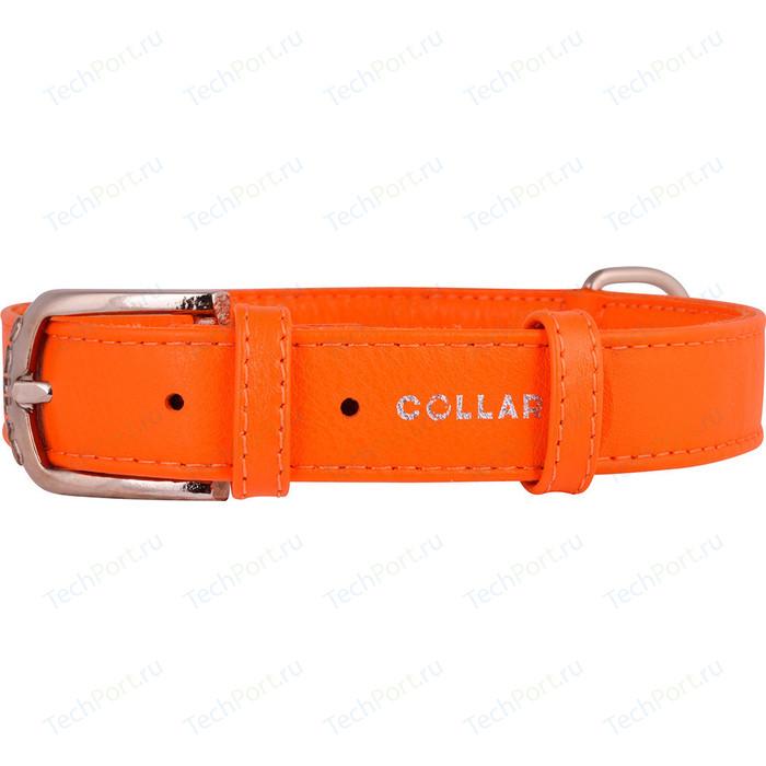 Ошейник CoLLaR Glamour без украшений ширина 20мм длина 30-39см оранжевый для собак (32934)