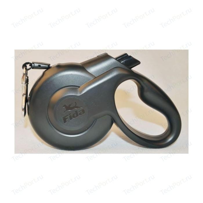 Рулетка Fida Ranger Styleash S шнур 5м черная для собак до 15кг