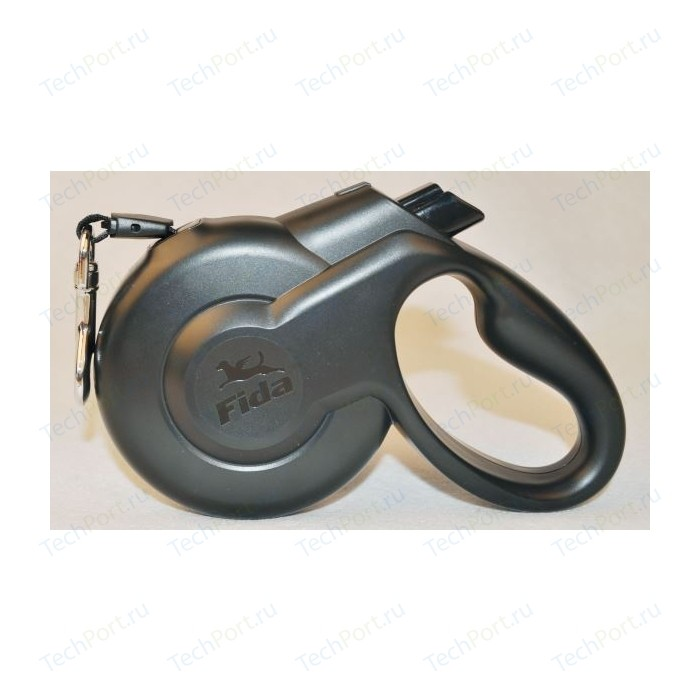Рулетка Fida Ranger Styleash M шнур 5м черная для собак до 25кг