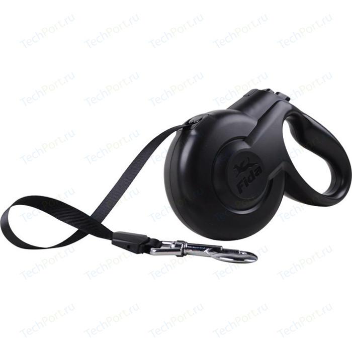 Рулетка Fida Ranger Styleash L лента 5м черная для собак до 50кг