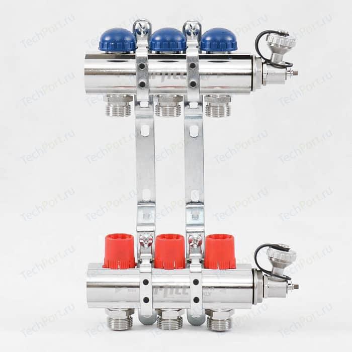 Коллекторная группа Uni-Fitt 1х3/4 3 выходов с регулировочными и термостатическими вентилями (441E4303)