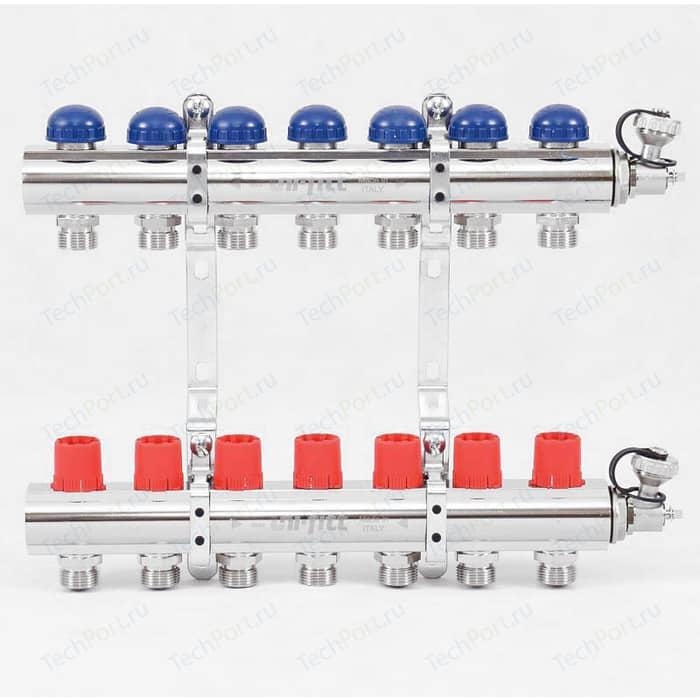 Коллекторная группа Uni-Fitt 1х3/4 7 выходов с регулировочными и термостатическими вентилями (441E4307)
