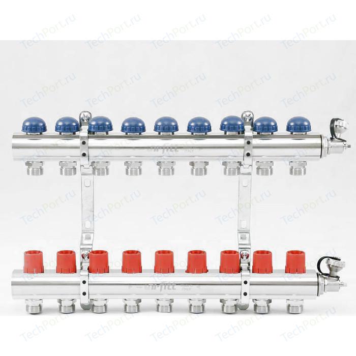 Коллекторная группа Uni-Fitt 1х3/4 9 выходов с регулировочными и термостатическими вентилями (441E4309)