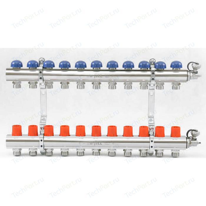 Коллекторная группа Uni-Fitt 1х3/4 11 выходов с регулировочными и термостатическими вентилями (441E4311)