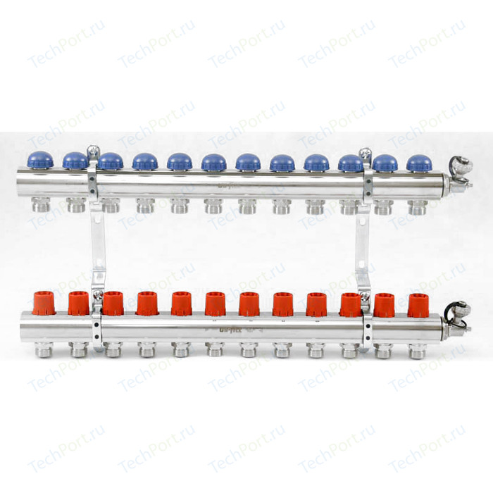 Коллекторная группа Uni-Fitt 1х3/4 12 выходов с регулировочными и термостатическими вентилями (441E4312)