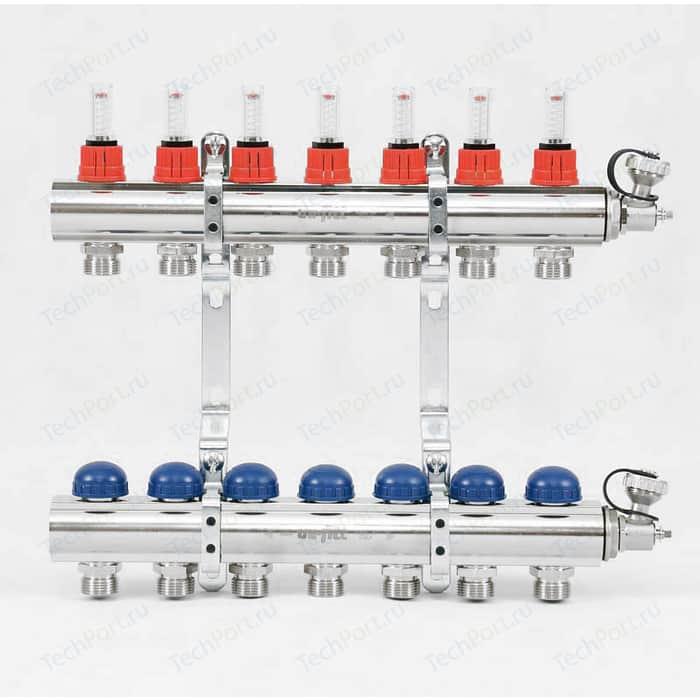 Коллекторная группа Uni-Fitt 1х3/4 7 выходов с расходомерами и термостатическими вентилями (440E4307)