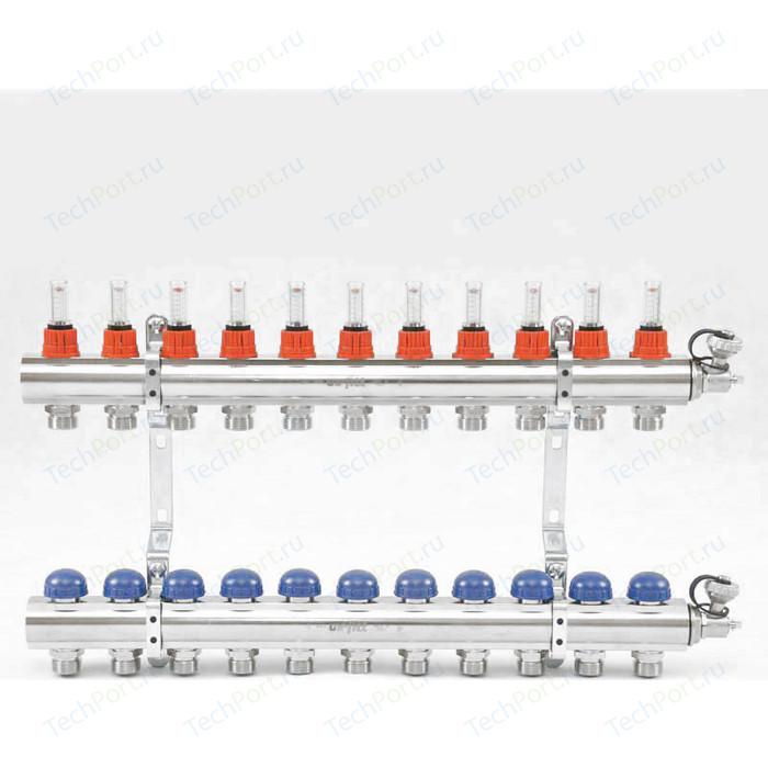 Коллекторная группа Uni-Fitt 1х3/4 11 выходов с расходомерами и термостатическими вентилями (440E4311)