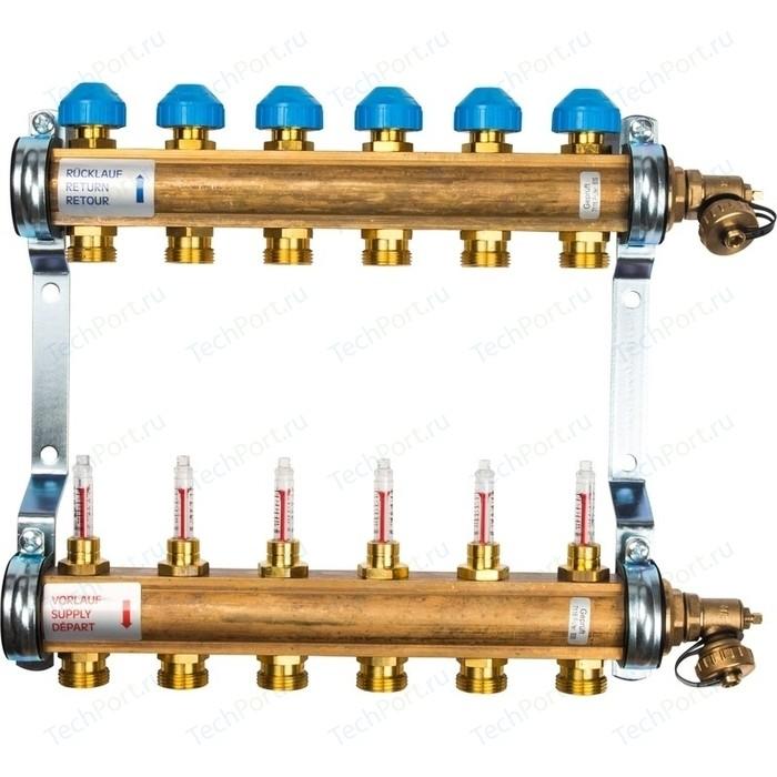 Коллекторная группа WATTS Ind HKV/T-6 1-3/4 с расходомером 6 выходов (10004200)