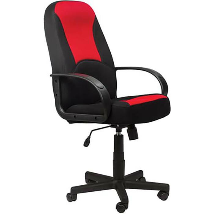 Кресло офисное Brabix City EX-512 ткань черная/красная TW 531408