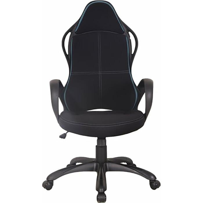 Кресло офисное Brabix Force EX-516 ткань черное/вставки синие 531572