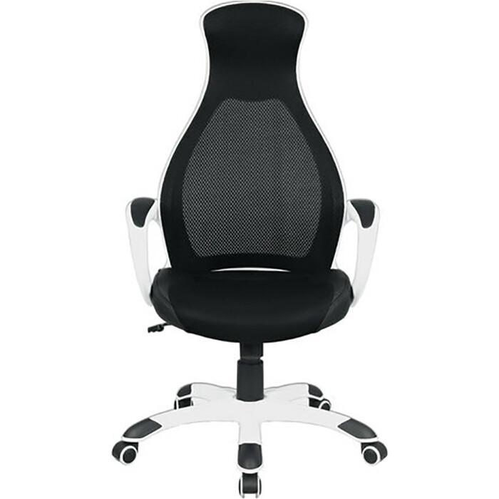 Кресло офисное Brabix Genesis EX-517 пластик белый ткань/экокожа/сетка черная 531573