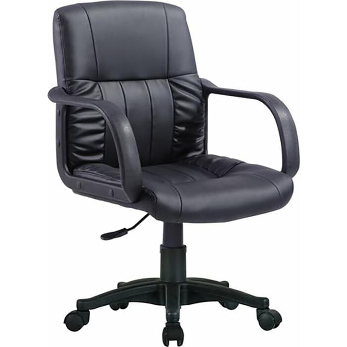 Кресло оператора Brabix Hit MG-300 с подлокотниками экокожа черное 530864