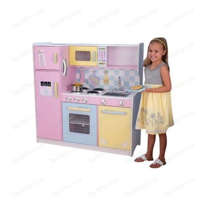 KidKraft Большая детская кухня из дерева Пастель (Large Pastel Kitchen) (53181_KE)