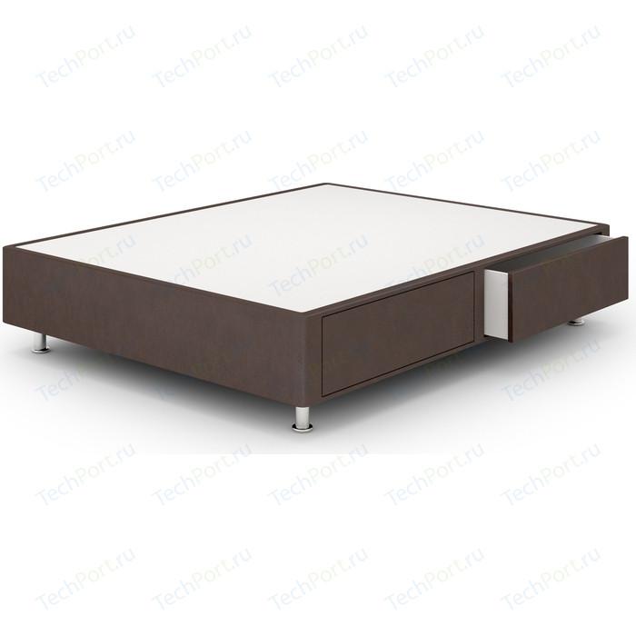 Кроватный бокс Lonax Box Maxi Draiwer (с ящиками 60x60) Эко Кожа (Стандарт) 160x200 коричневый