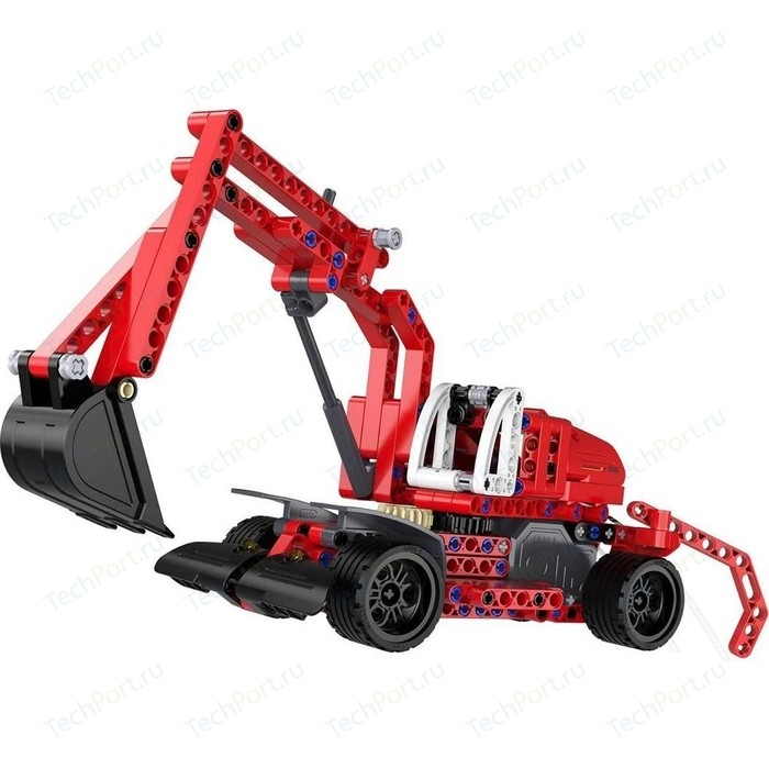 Конструктор Cada Technics экскаватор с инерционным механизмом, 235 деталей конструктор lepin technics 20007 моторизированный экскаватор