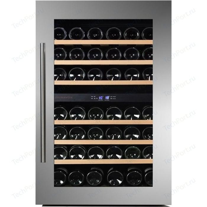 Винный шкаф Dunavox DAB-42.117DSS винный шкаф 215 л на 89 бутылок черный dab 89 215db dunavox