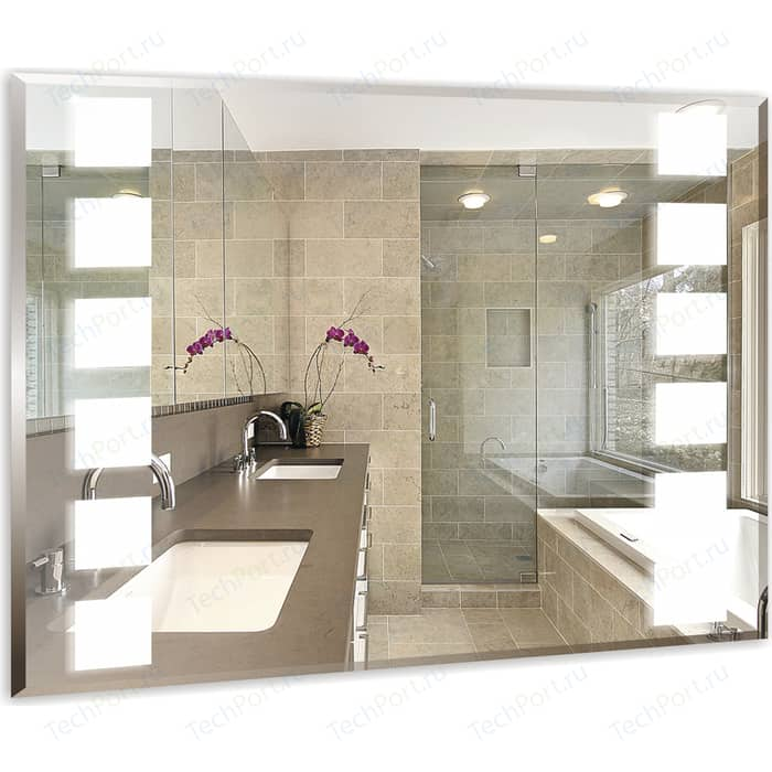 Зеркало Mixline Блюз 80х60 с подсветкой, фацет (4620001981984)