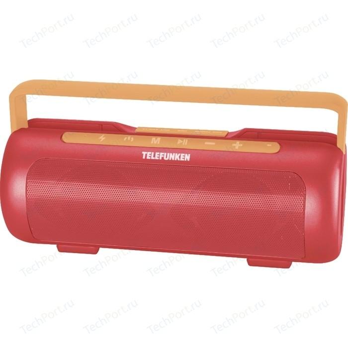 Портативная колонка TELEFUNKEN TF-PS1231B красный/оранжевый портативная акустика telefunken tf ps1230b красный коричневый