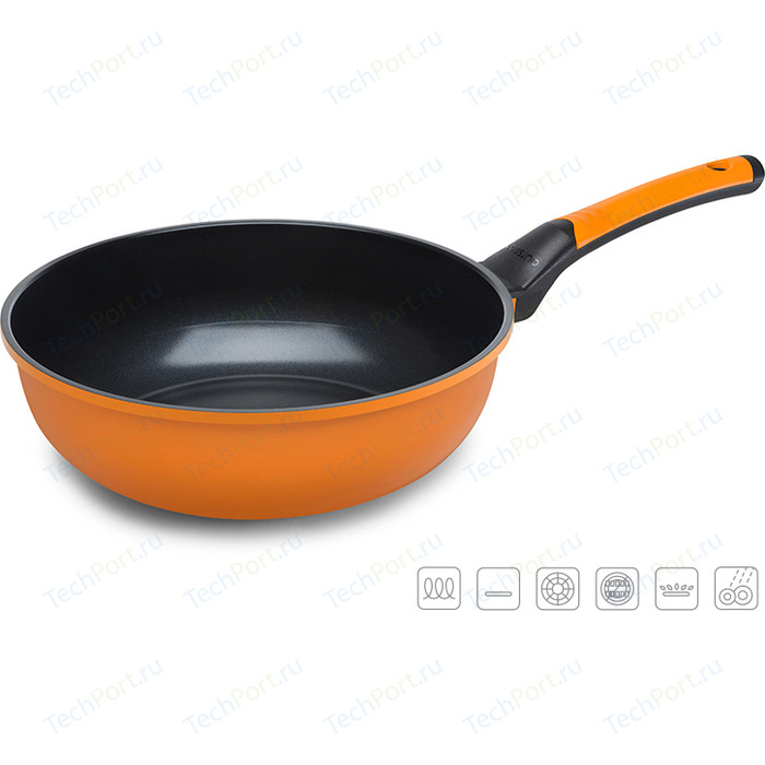 Сковорода WOK Oursson d 28см Pallete Anionic Ceramic (PW2802C/OR)