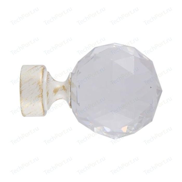 Наконечники 2 штуки DDA 28 мм Орион Белое золото (28.01.34.105 )