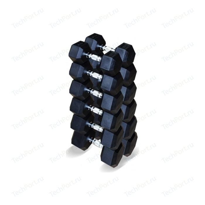 Набор гантелей Original FitTools гексагональных 6 пар от 12.5 до 25 кг