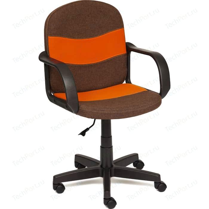 Кресло TetChair BAGGI ткань коричневый/оранжевый ЗМ7/С23