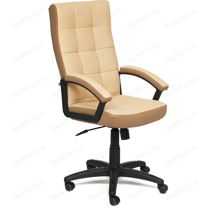 Кресло TetChair TRENDY кожзам/ткань бежевый/бронзовый 36-34/21