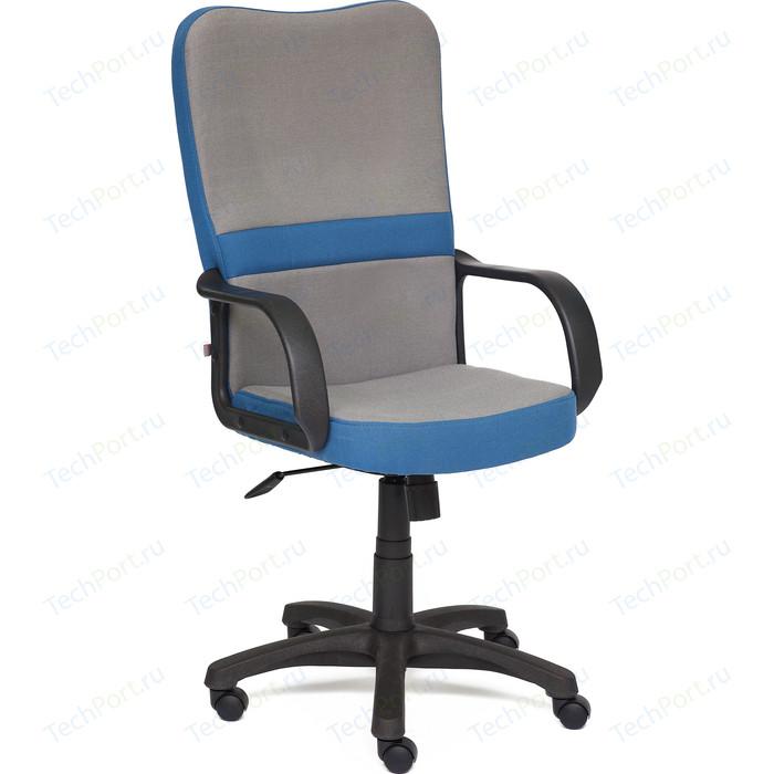 Кресло TetChair СН757 ткань серый/синий С27/С24