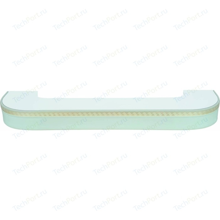 Карниз потолочный пластиковый DDA Поворот Греция трехрядный белый 2.8