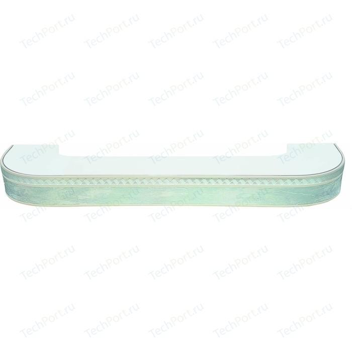 Карниз потолочный пластиковый DDA Поворот Греция трехрядный белый хром 2.8